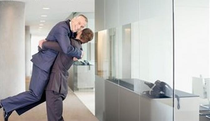 Coworkers-Hugging