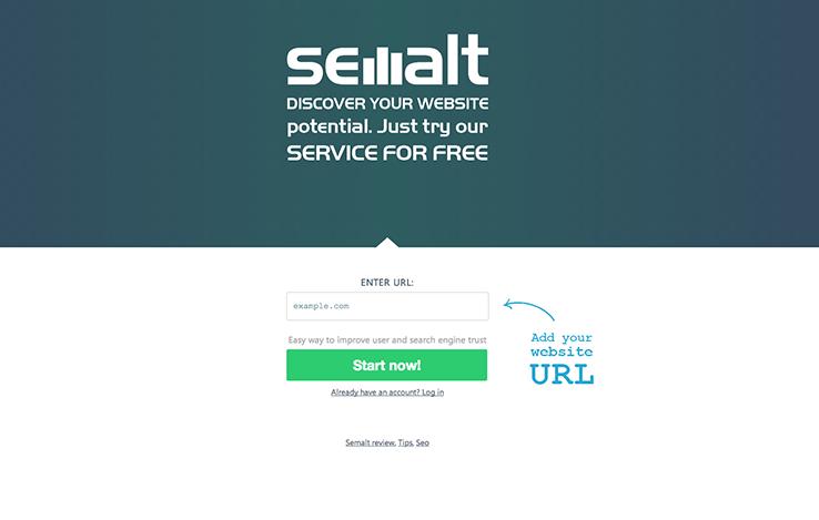 screenshot of semalt