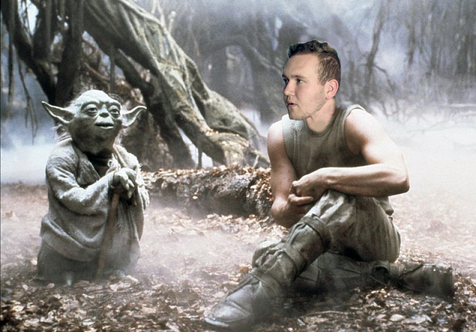 Kyle Maguire wanting to be a jedi with Yoda