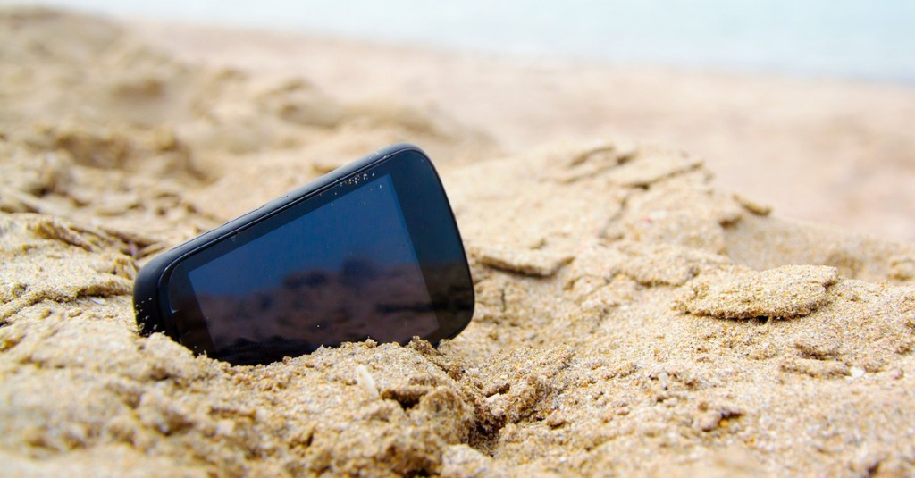Mobile Phone in sand
