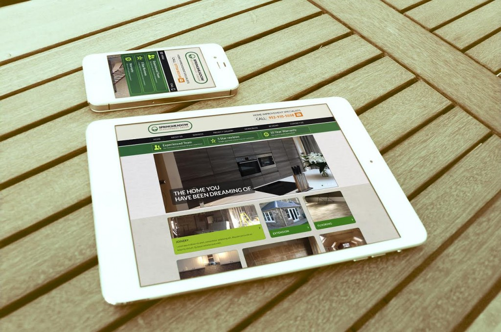 Image of 2 devices showing the new Springmeadow website