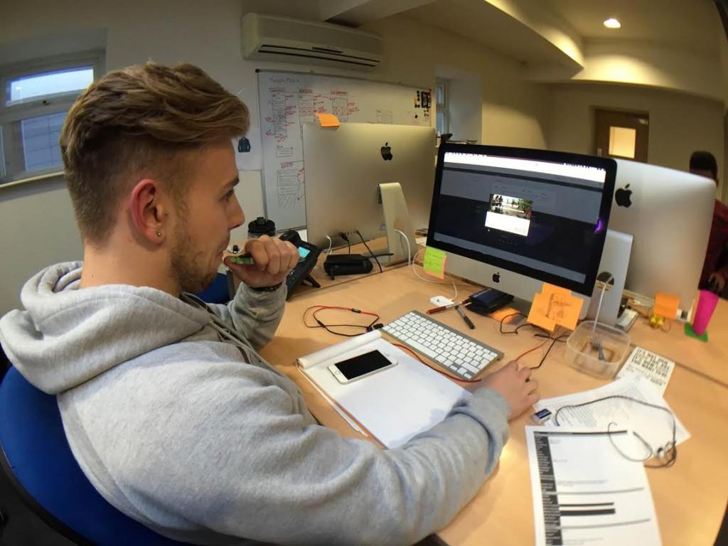 Webrevolve Designer working on SpringMeadow website