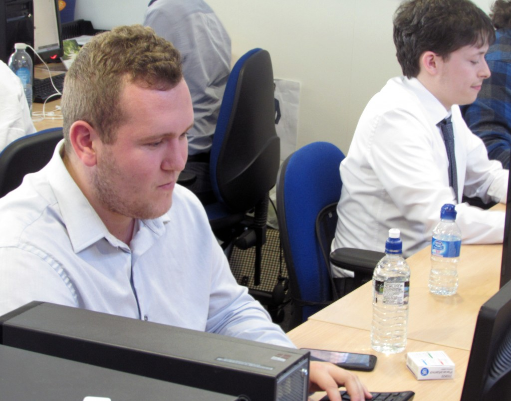 Kyle Maguire and other web agency staff working at Webrevolve in Liverpool