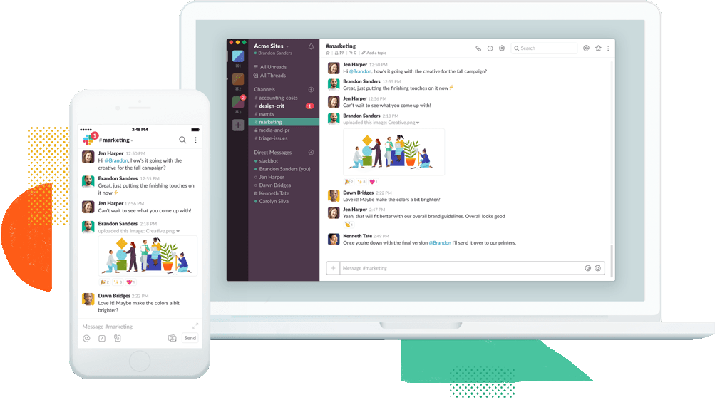 Slack on two different screens
