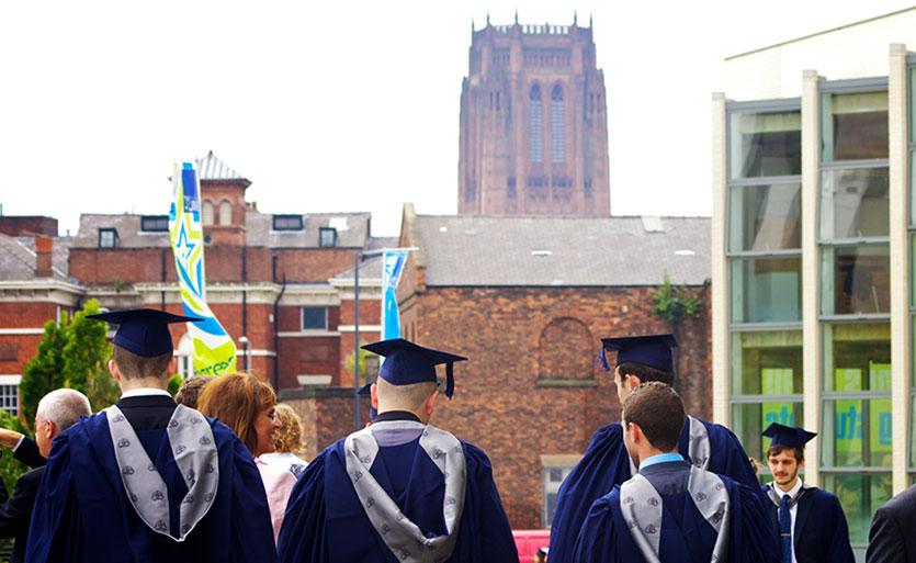 LJMU graduates celebrating graduation