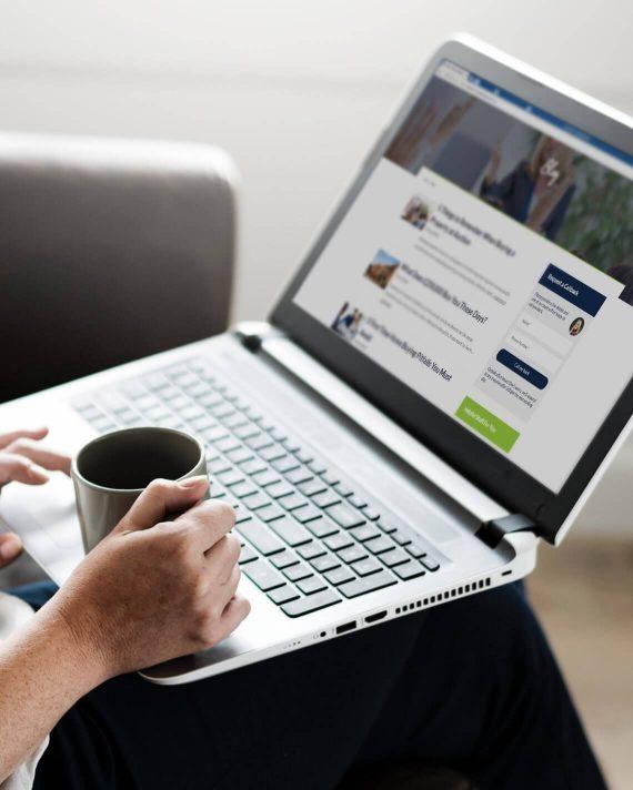 HM website on a laptop