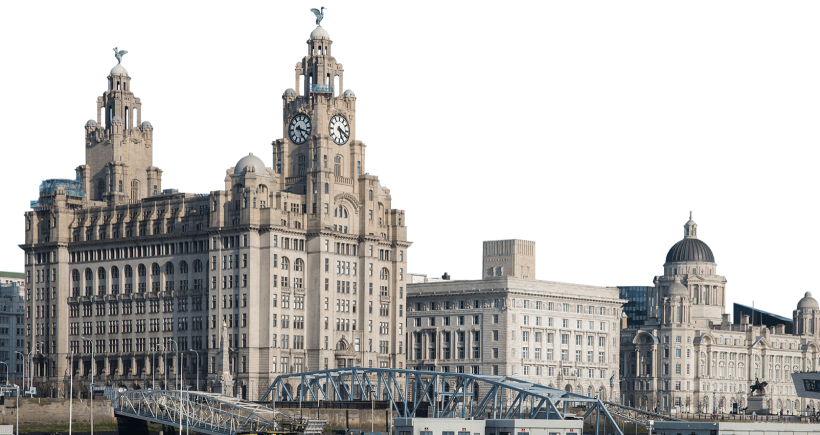 Image of Liver Building with no sky