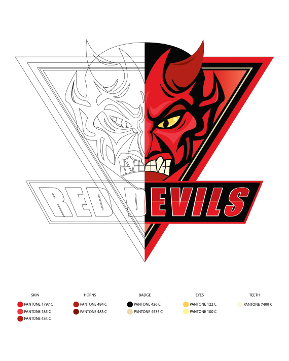 Salford Red Devils branding