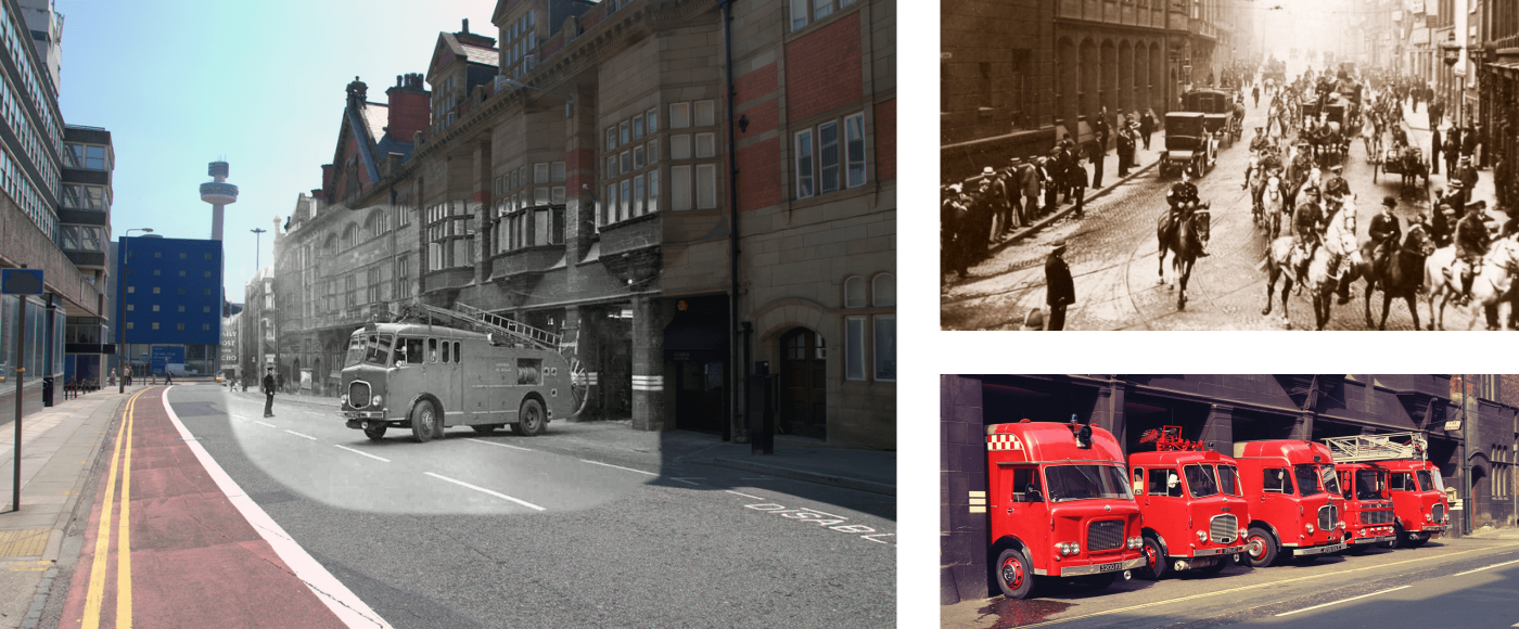 3 Images showing old images of Hatton Garden