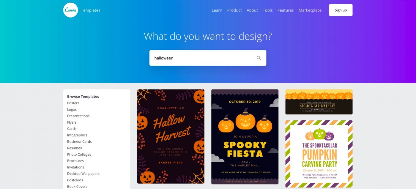 Canva Halloween Templates