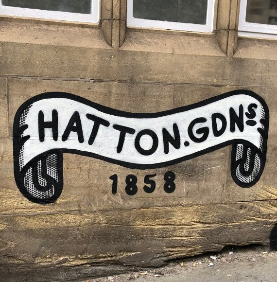 Hatton Garden 1858 Spray Paint on wall