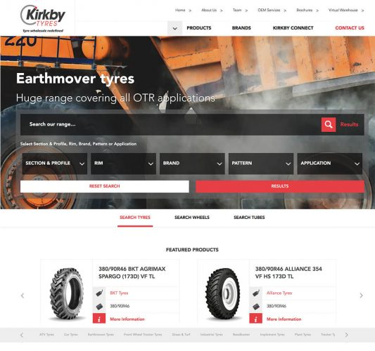 Homepage for Kirkby Tyres