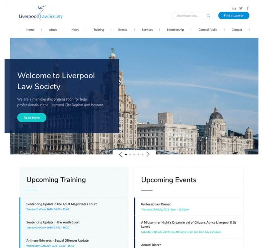 Homepage for The Liverpool Law Society