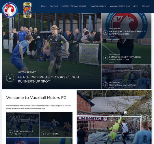 Homepage for Vauxhall Motor's Sports Club
